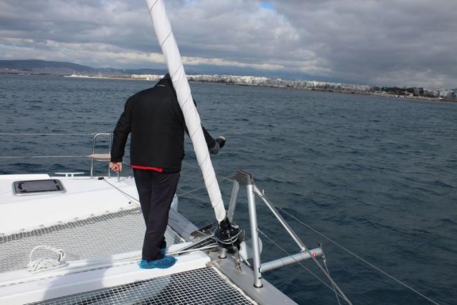 Albertina docked at port Alimos Marina in Athens